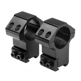 "NC STAR 1"" X 1.4""H 3/8"" DOVETAIL RINGS - BLACK"