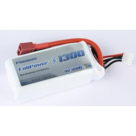 FULLPOWER - BATTERIA LIPO 3S 1300MAH 35C SILVER V2 - DEANS