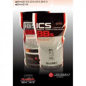 ICS 0.20G GLOW IN THE DARK BBS 5.000PCS/1KG BAG