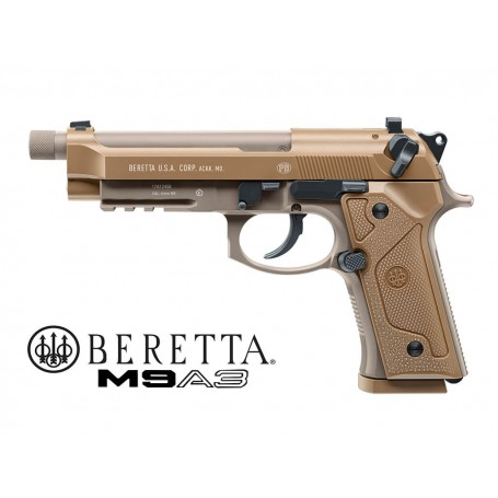 UMAREX BERETTA M9A3 MILITARY CO2 FDE BLOW-BACK FULL METAL NEW