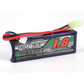 TURNIGY NANO-TECH 1500MAH 2S 20-40C LIPO AIRSOFT PACK (WAREHOUSE EU)