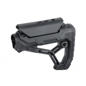 AR15/M4 STOCK WITH INTEGRATED CHEEK WELD - BLACK [KUBLAI]