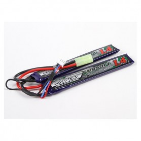 TURNIGY NANO-TECH 1400MAH 2S 15-25C LIPO AIRSOFT PACK CELLE SEPARATE