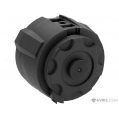 Angel Custom 1500 Round Firestorm Airsoft AEG Drum Flashmag (Color: Black / Body Only)