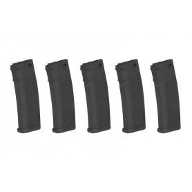 Set of 5 380BBs S-Mag Hi-Cap magazine - black