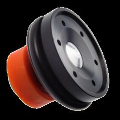 Testa pistone cuscinettata in POM concepita per raffiche veloci e per migliorare la silenziosità della replica (TPNS)