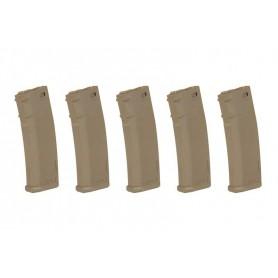 Set of 5 380BBs S-Mag Hi-Cap magazine - SPECNA ARMS tan