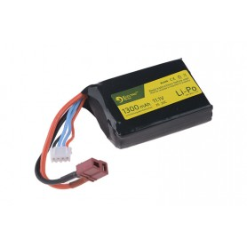 LIPO 11.1V 1300MAH 20/40C BATTERY - AN/PEQ SIZE - T-CONNECT (DEANS) ELECTRO RIVER