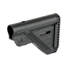 SLIM AEG 416/AR15 RIFLE STOCK - BLACK [D-DAY]