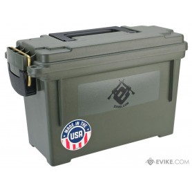 "EVIKE.COM ""MADE IN USA"" MOLDED POLYPROPYLENE STACKABLE AMMO CAN BY PLANO (SIZE: 11.625"" X 5.125"" X 7)"