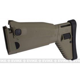 VFC REPLACEMENT FOLDING STOCK FOR MK16/17 SCAR SERIES AIRSOFT AEG RIFLES - TAN