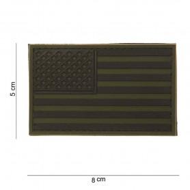 101INC PATCH 3D PVC USA VERDE/NERO