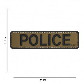 101INC PATCH 3D PVC POLICE VERDE/NERO