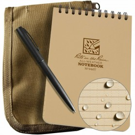 RITE IN THE RAIN 946T-KIT ALL-WEATHER UNIVERSAL SPIRAL NOTEBOOK KIT TAN