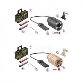 LASER LED XG110N RELEASE 2.0 LASER ROSSO