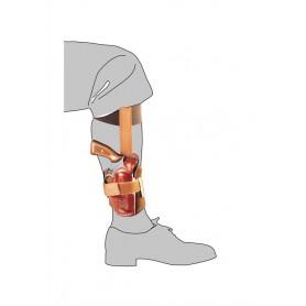 Fondina in cuoio da caviglia con sgancio rapido