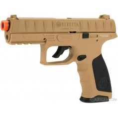 Beretta APX C02 FDE Blowback Airsoft Pistol with Two Magazines