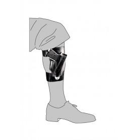 Fondina in cordura da caviglia con sgancio rapido regolabile