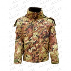 Parka militare vegetato 2014 modello italiano con interno staccabile