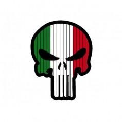 BANDIERA SKULL ITALIA PVC VELCRO PATCH