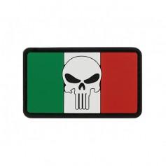 BANDIERA SKULL ITALIA 2 PVC VELCRO PATCH