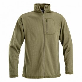 OPENLAND THERMAL SHIRT WITHPOCKET, FULL ZIP AND MESH UNDER ARMPIT