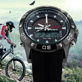 OPENLAND DUAL TIME WATCH WITH SOLAR RECHARGE