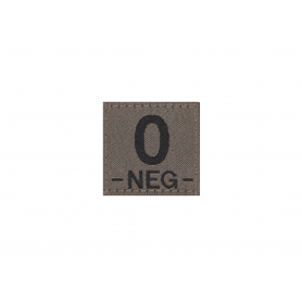 CLAWGEAR 0 NEG BLOODGROUP PATCH