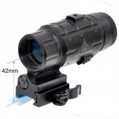 LEAPERS 3X FLIP-TO-SIDE QD MAGNIFIER ADJUSTABLE TS