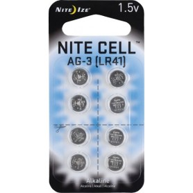 NITE IZE BATTERIE AG-3 LR41 REPLACEMENT ALKALINE BATTERIES 8 PACK