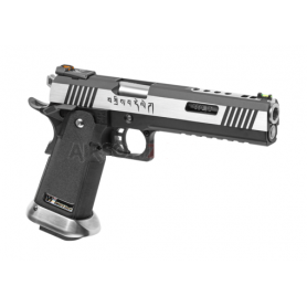 WE HI-CAPA 6 FORCE A SILVER BARREL FULL METAL GBB